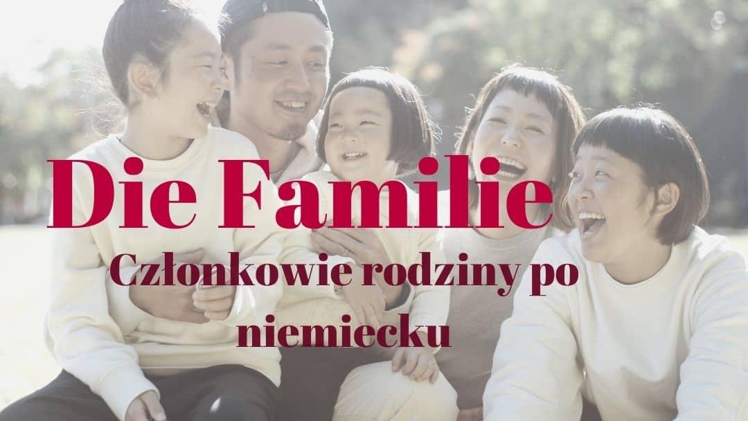 Członkowie rodziny po niemiecku